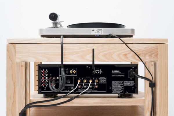 Solid Wood Audio Rack Cable Management