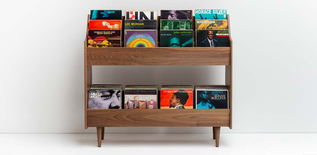 Luxe Record Stand Mid-Century Modern