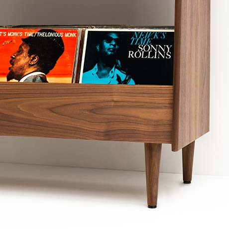 Mid-Century Modern Record Stand