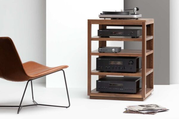 Solid Walnut Dovetail Audio Rack